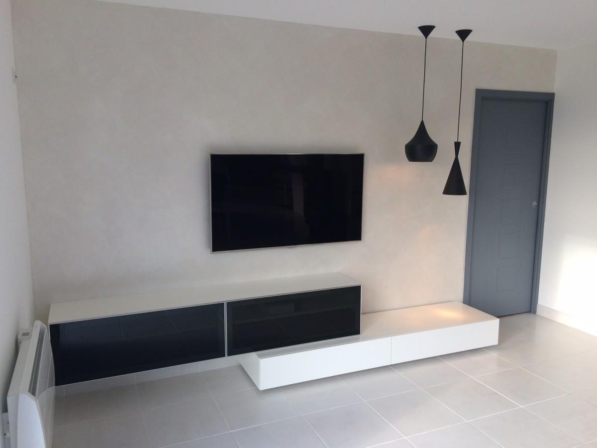 Jv Concept Conception Et R Alisation D Int Rieur Au Design  # Meuble Tv Sur Mesure Design