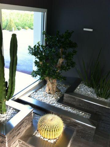 Bac fleurs int rieur for Jardiniere interieur design